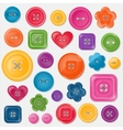 Set of colored buttons vector image