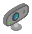 Web camera icon cartoon style vector image