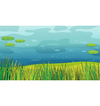 A water and a beautiful landscape vector image