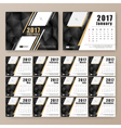12 month desk calendar template vector image