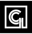 Capital letter G From white stripe enclosed in a vector image