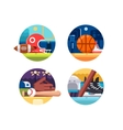 Colored icons popular sports vector image