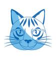 head feline wildlife stripes animal icon vector image