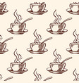pattern with coffee cup vector image vector image
