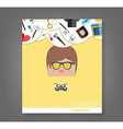 book cartoon doodle man rectangle play games vector image