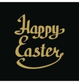 Happy Easter golden lettering vector image