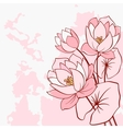 Abstract water lily flowers vector image
