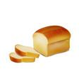 bread bakery icon sliced fresh wheat bread vector image