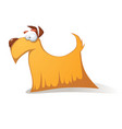 crazy yellow dog - funny cartoon characters vector image