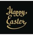 Happy Easter golden lettering vector image