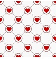 Icons with hearts vector image