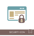 internet protection icon information security vector image