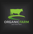 organic farm design template poster vector image