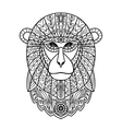 Ornamental White Monkey vector image