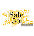 sale 50 off sign for website and vector image