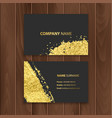 set of dark visit cards decoration with gold vector image