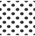 half of nutmeg pattern vector image