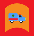 flat icon design collection ambulance vector image