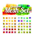 set of gradient meshes for your design vector image vector image