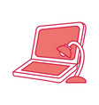 laptop computer with lamp vector image