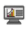 computer technology with financial graph chart vector image
