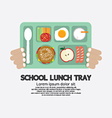 Hand Holding A School Lunch Tray vector image vector image