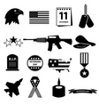 american veterans day celebration icons set eps10 vector image
