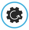Gear Rotation Flat Rounded Icon vector image