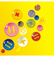 sprinkle color buttons vector image vector image