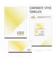corporate identity template point vector image vector image