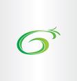 letter g bio gasoline plant icon vector image