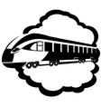 Modern rail transport vector image
