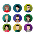simple circular icon flat business people graphic vector image