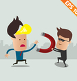 Thief steal idea - - EPS10 vector image