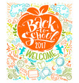 vertical back to school poster vector image