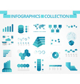 infographics collection blue timeline vector image vector image