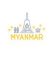 Myanmar country travel identity vector image
