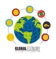 global economy isolated icon vector image