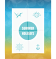 Summer Label on Folded paper vector image vector image
