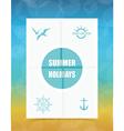 Summer Label on Folded paper vector image