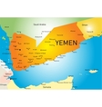Yemen map vector image