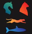 Animals Horse Cheetah Bear Shark vector image