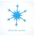 Blue watercolor snowflake vector image
