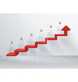 Business stair conceptual design Can be used for vector image