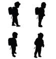 child set black silhouette vector image