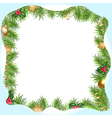 Christmas Border With Snowdrifts vector image