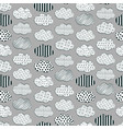 cute black and white cloud pattern vector image