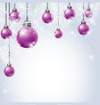 hanging colorful christmas ball with fir vector image