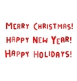 New Year and Merry Christmas greeting card vector image