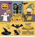 Set traditional elements of Halloween vector image